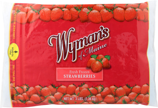 WYMANS: Fresh Frozen Strawberries, 3 lb