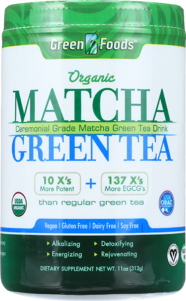 GREEN FOODS: Organic Matcha Green Tea, 11 oz