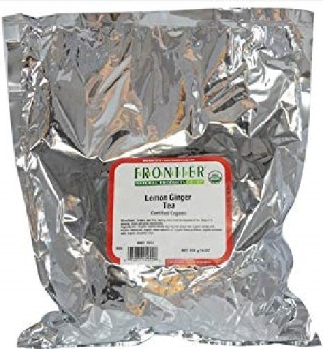 FRONTIER HERB: Organic Tea Lemon Ginger, 16 oz