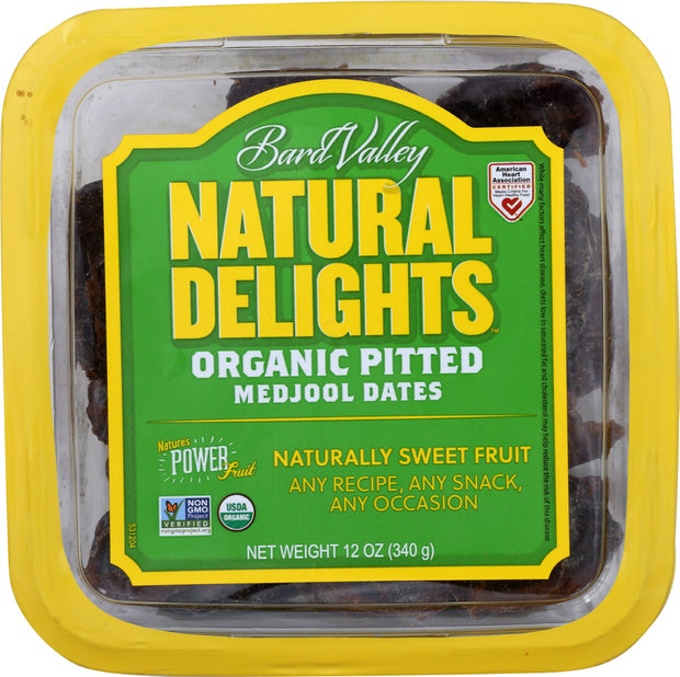 NATURAL DELIGHTS: Date Medjool Pitted, 12 oz