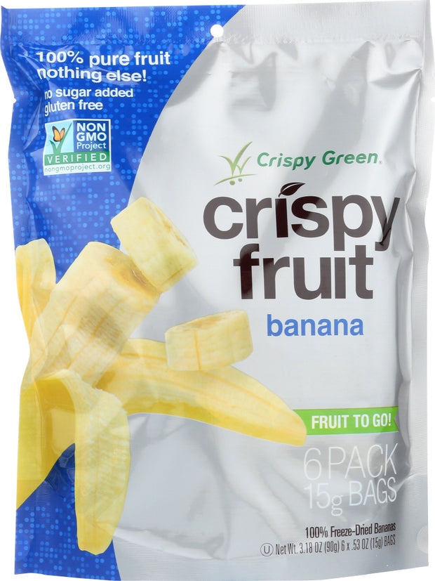 CRISPY GREEN: Crispy 6 Pack Banana, 3.18 oz