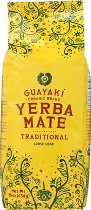 GUAYAKI: Organic Loose Leaf Yerba Mate Traditional, 16 oz