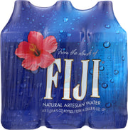 FIJI WATER: Natural Artesian Water 1 liter bottles, 6 pc