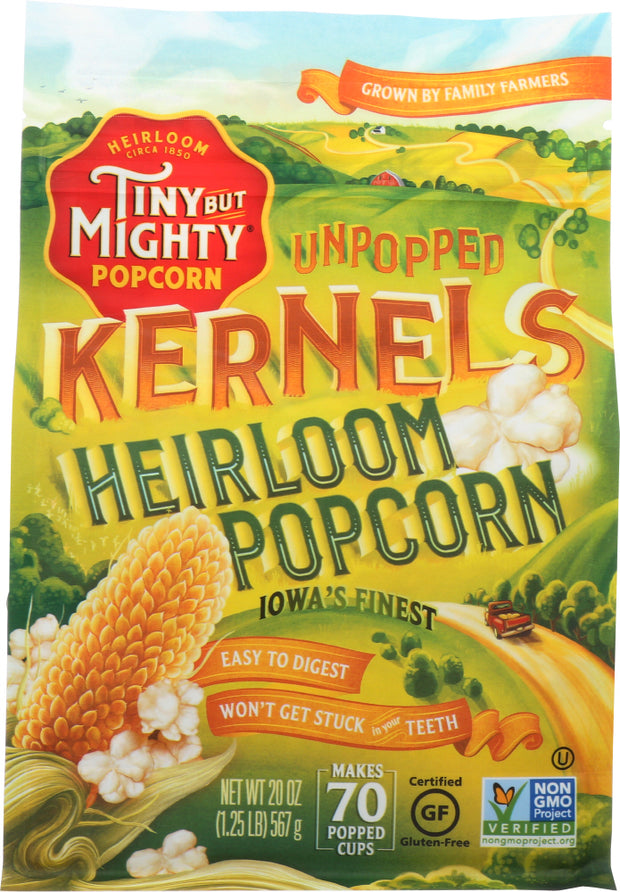 TINY BUT MIGHTY: Ancient Heirloom Unpopped Popcorn, 20 oz