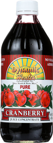 DYNAMIC HEALTH: Pure Cranberry Juice Concentrate, 16 oz