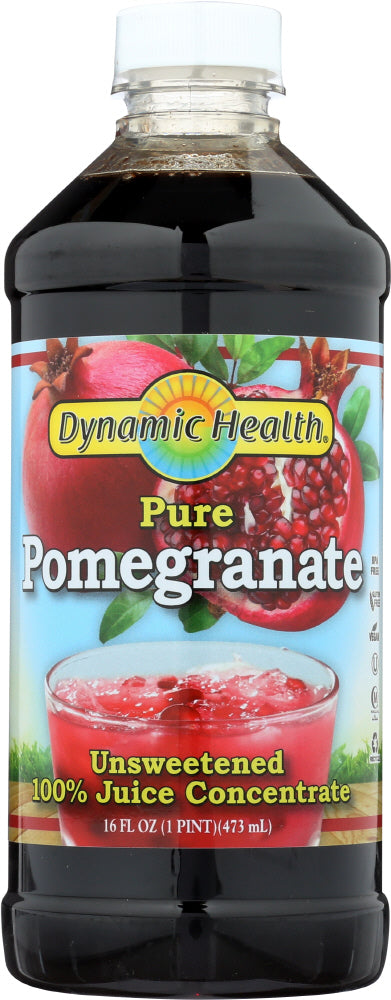 DYNAMIC HEALTH: Pure Pomegranate Juice Concentrate, 16 oz