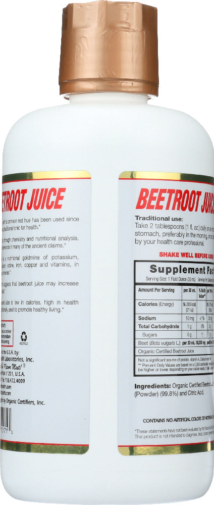 DYNAMIC HEALTH: Organic Beetroot Juice, 32 oz