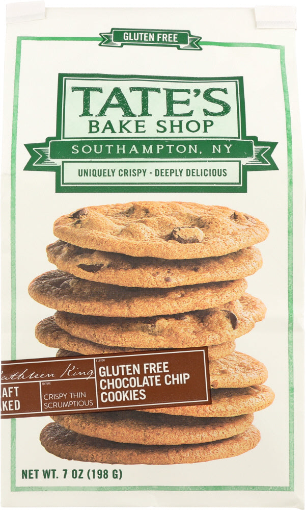 TATE'S BAKE SHOP: Gluten Free Chocolate Chip Cookies, 7 oz