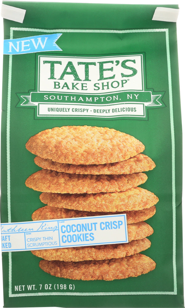 TATES: Cookies Coconut Crisp, 7 oz