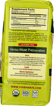 ECO TEA: Organic Yerba Mate Tea Loose, 16 oz