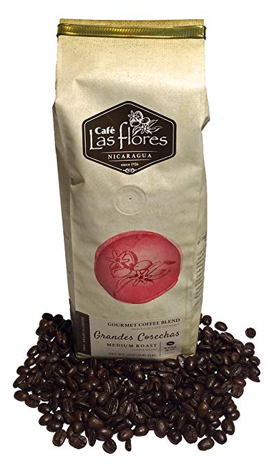 CAFE LAS FLORES: Coffee Whole Bean Medium Roast, 16 oz