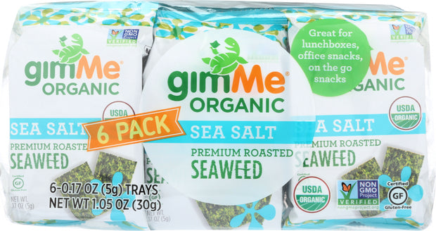 GIMME: Seaweed Roasted Sea Salt Organic, 1.05 oz