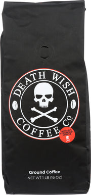 DEATH WISH COFFEE: Ground Coffee Beans, 1 lb
