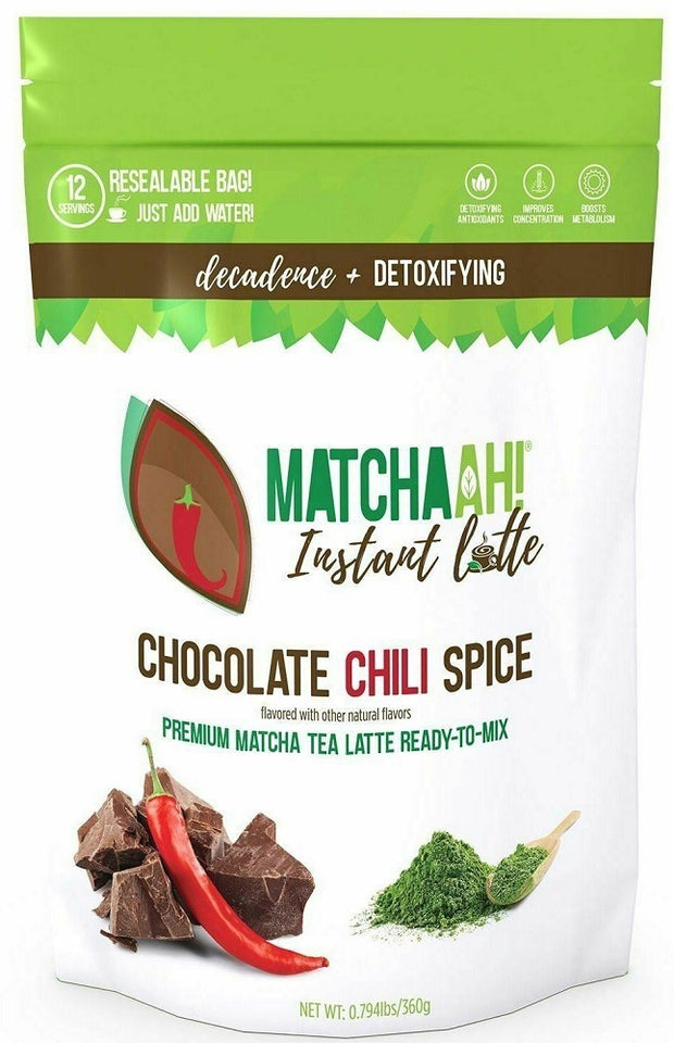 MATCHAAH: Tea Instant Matcha Latte Chocolate Chili, 12.7 oz