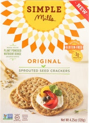 SIMPLE MILLS: Original Sprouted Seed Crackers, 4.25 oz