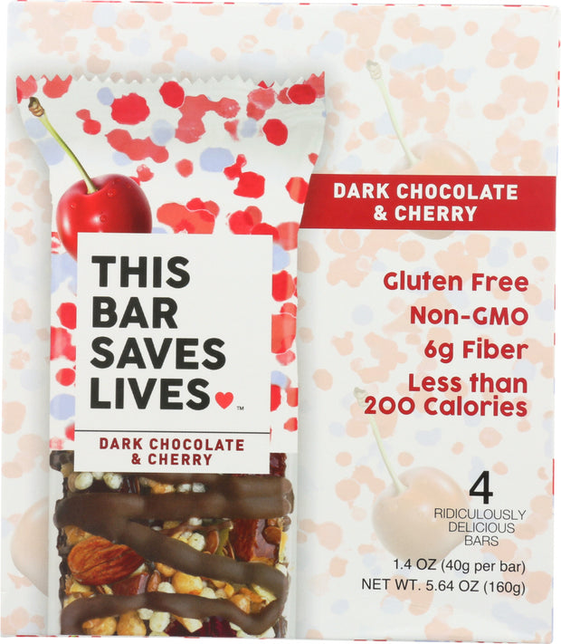 THIS BAR SAVES: Bar Granola Dark Chocolate Cherry, 5.64 oz