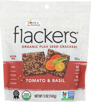 DOCTOR IN THE KITCHEN: Flax Seed Crackers Sun Ripened Tomato & Basil, 5 oz