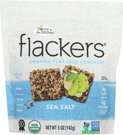 DOCTOR IN THE KITCHEN: Flackers Flax Seed Crackers Sea Salt, 5 oz