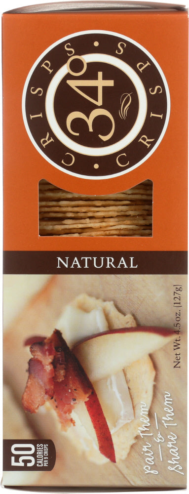 34 DEGREES: Natural Crispbread Crackers, 4.5 oz