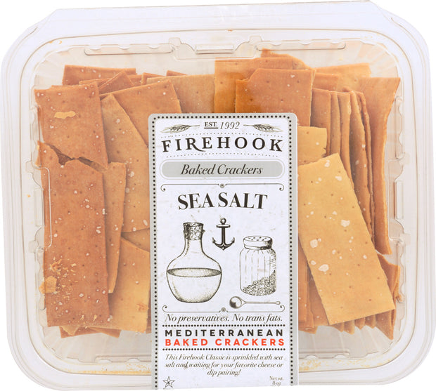 FIREHOOK: Seasalt Baked Cracker, 7 Oz