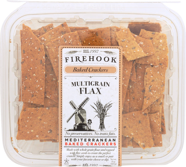 FIREHOOK: Multigrain Flax Baked Cracker, 8 Oz