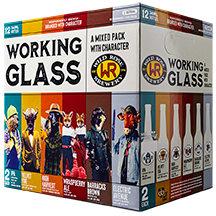 Working Glass Mixed 12 Pack 341ml Bottles