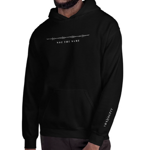 'Not the same' Heavy Hooded Sweatshirt by Ricardo (Black Design)