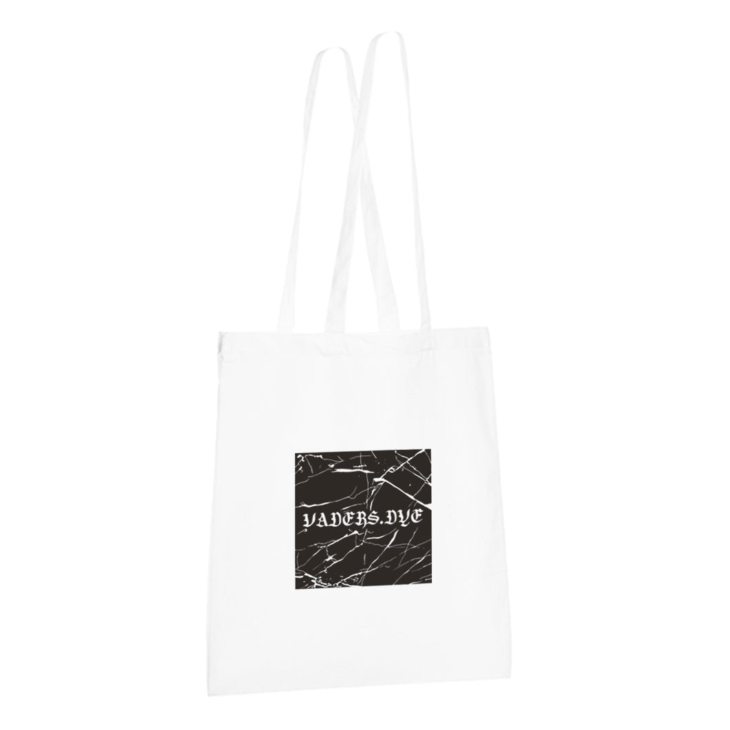 Marble Goth Tote Bag