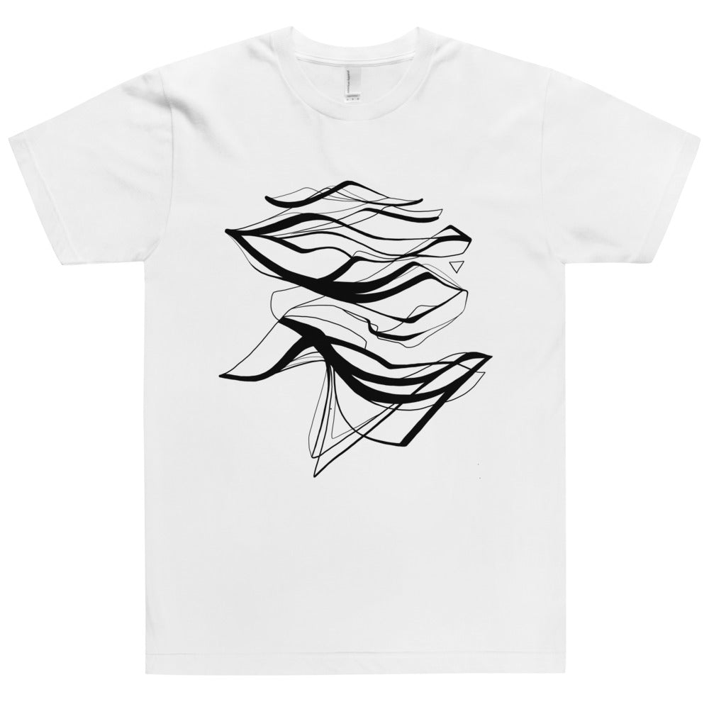 'Water' White T-Shirt by Siona