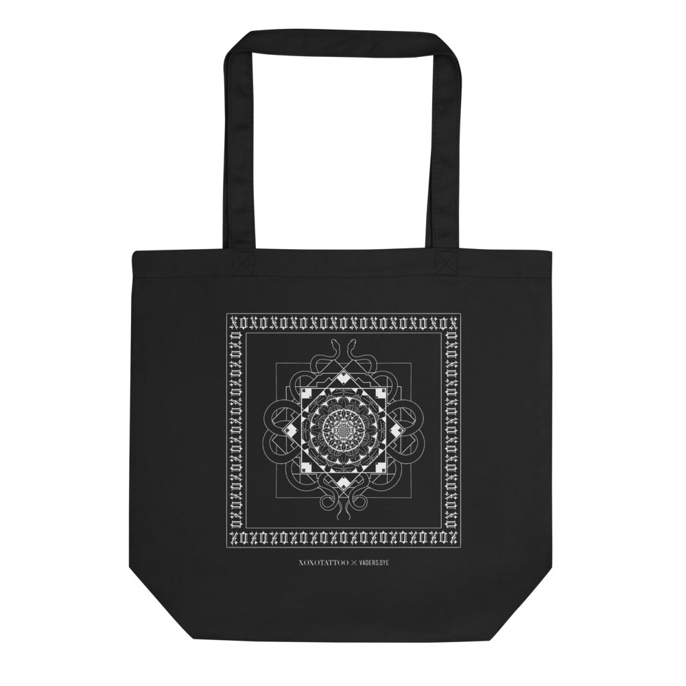 xoxotattoo x VADERS.DYE 2.0 Black Organic Tote Bag
