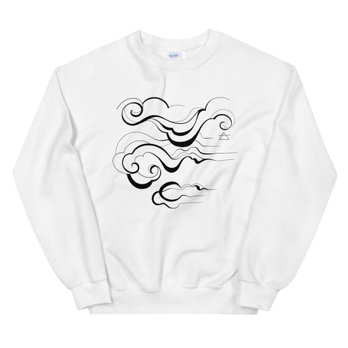 'Air' White Sweatshirt by Siona