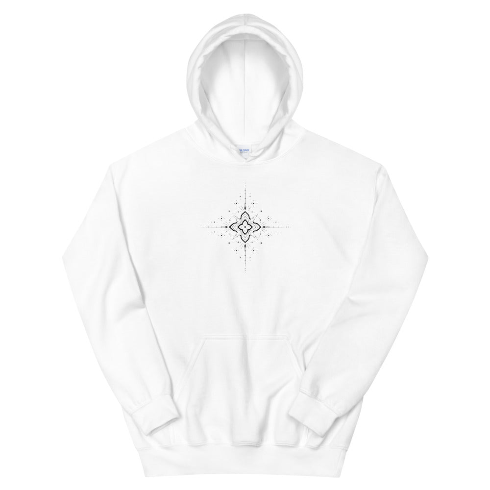 'Ornament I' Heavy Hooded Sweatshirt by Slavena