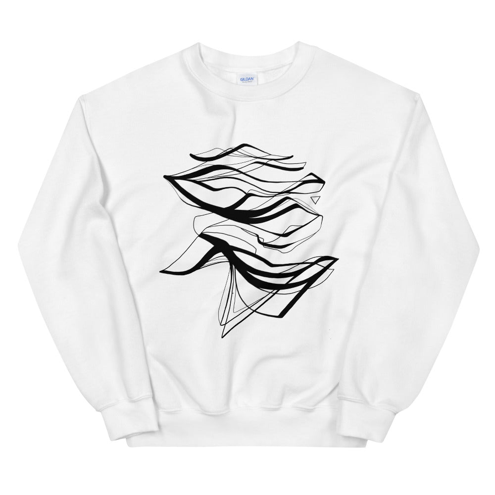 'Water' White Sweatshirt by Siona