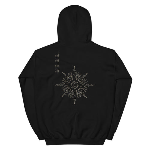 'Be like the sun' BLACK EDITION Heavy Hooded Sweatshirt by xoxotattoo