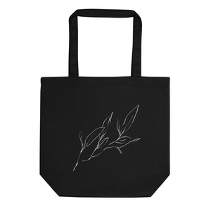 Organic Tote Bag 'Leaves I' by Ali