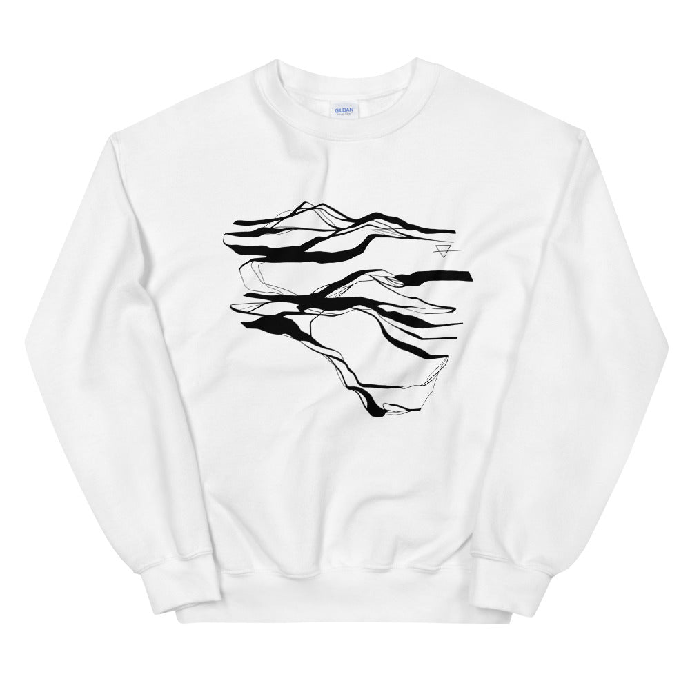 'Earth' White Sweatshirt by Siona