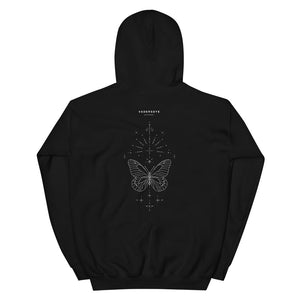 'Butterfly II' Heavy Hooded Sweatshirt by Keya