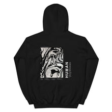 Load image into Gallery viewer, '(h)yoomen' Black Heavy Hooded Sweatshirt by Ali