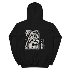 '(h)yoomen' Black Heavy Hooded Sweatshirt by Ali