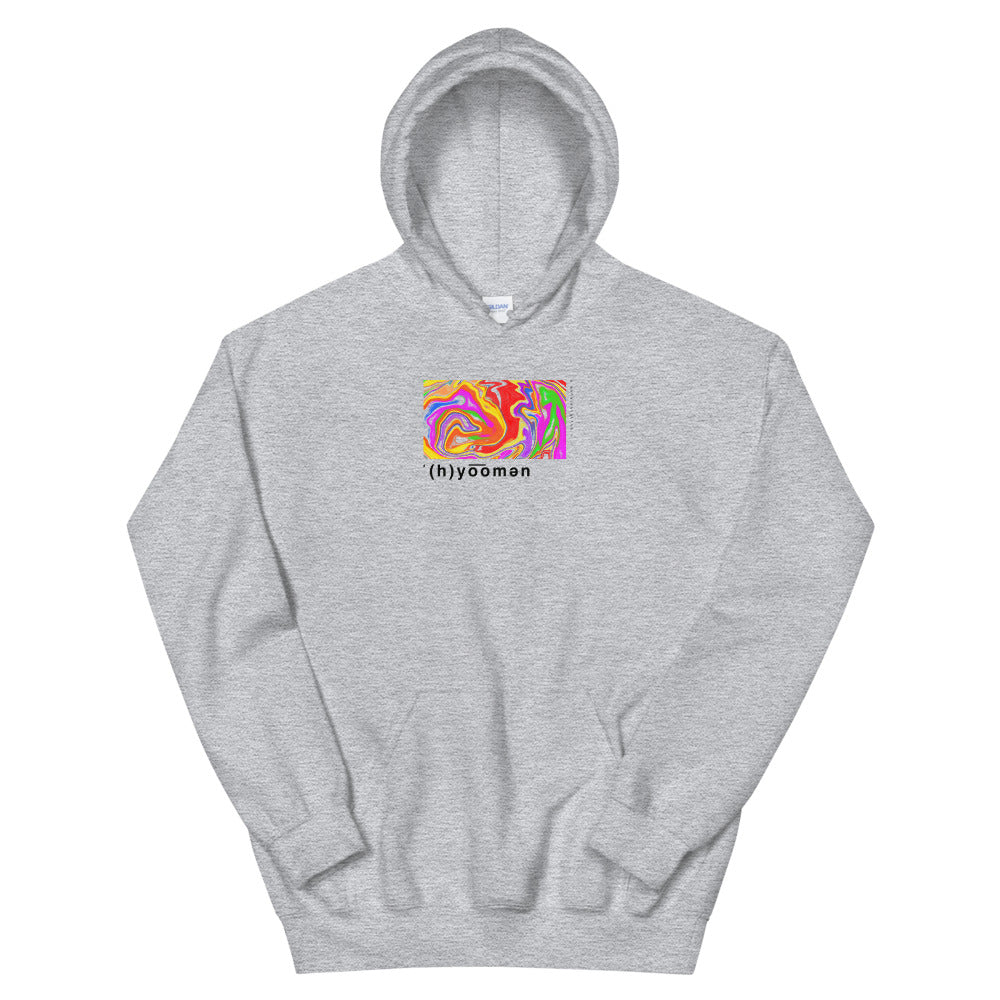 'human colors' Heavy Hooded Sweatshirts by Ali (more colors)