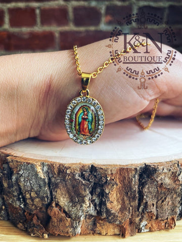 Virgen de Guadalupe (Color) Necklace