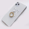 Levana Phone Grips Heart Transparent Holder With Metal Ring For iPhone