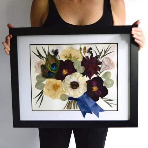 Pressed and Framed Wedding Bouquet deposit