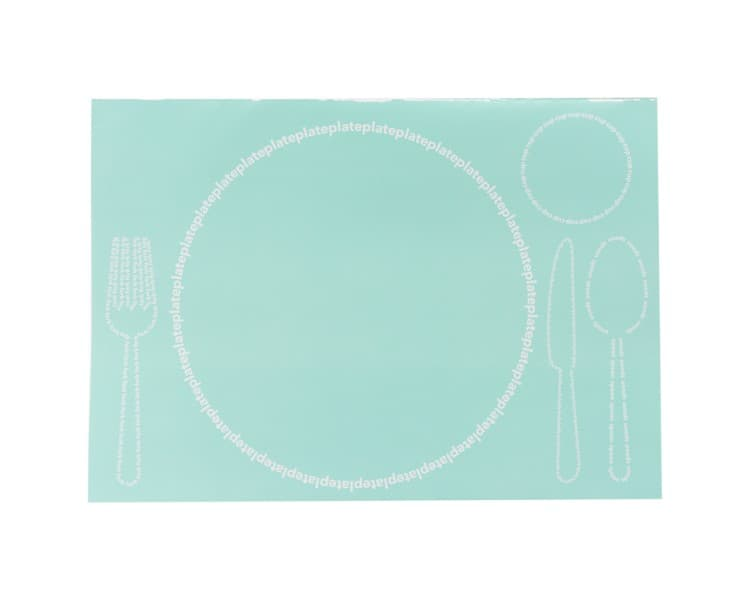 Alfresco Tear Pad 24 Piece Placemats Aqua
