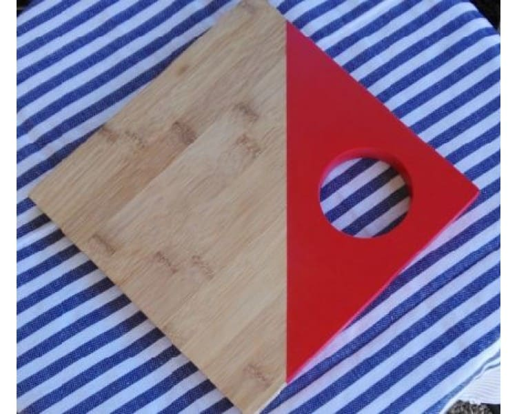 Bamboo Serving Board - Square Red