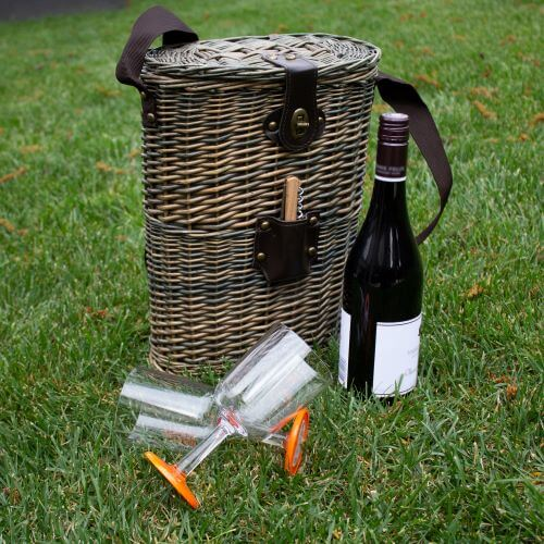 Wicker double bottle wine cooler - Grey