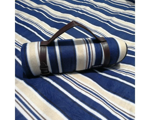 Striped Picnic Rug - Blue