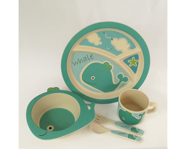 Childrens Eco Dinner Set - Whale