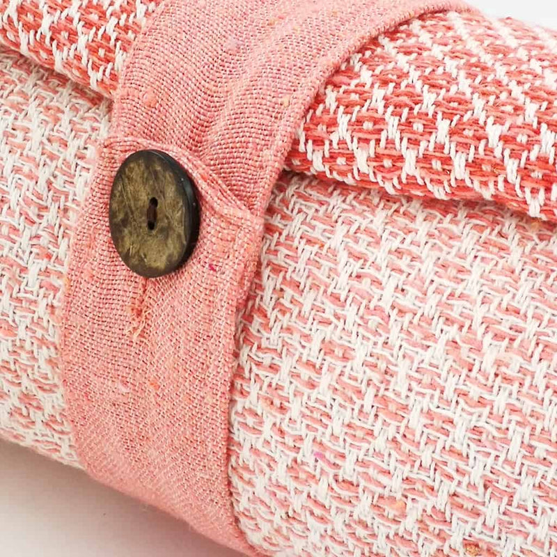 Cotton Diamond Throw - Blush