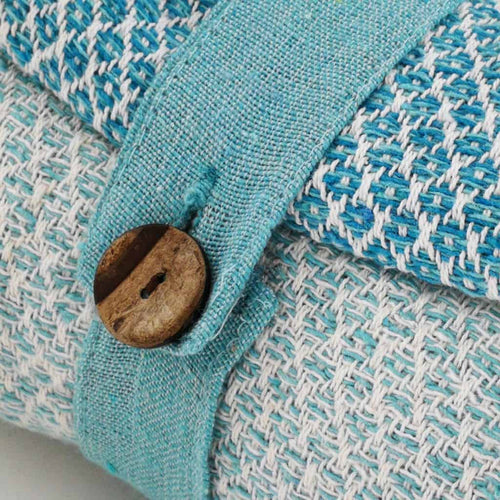 Cotton Diamond Throw - Teal